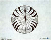 eleanor of aquitaine - line drawing plate study by judy chicago