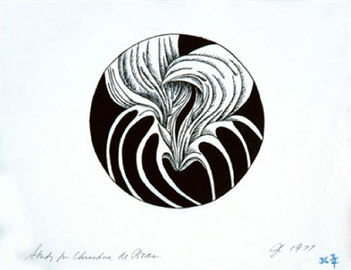 christine de pisan - line drawing plate study by judy chicago