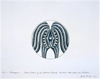 hatshepsut (no.6 ) - line drawing plate study by judy chicago