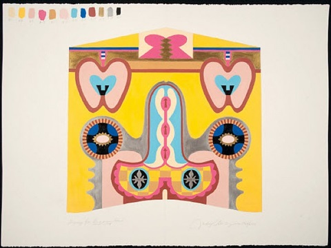 study for bigamy hood by judy chicago