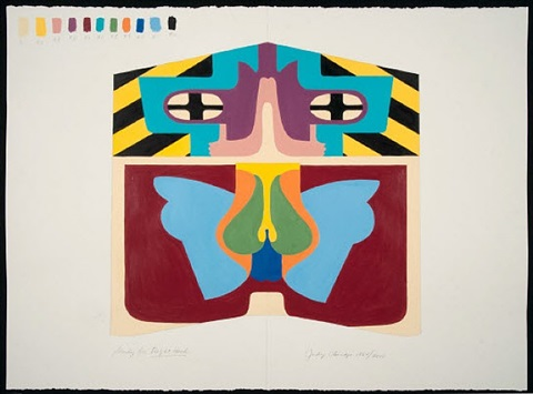 study for flight hood by judy chicago