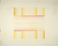 study for flesh gardens (pink and yellow) by judy chicago