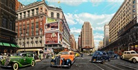 herald square, 1936 (after bernice abbott) by don jacot