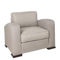 paire de fauteuils à large manchettes by paul dupré-lafon