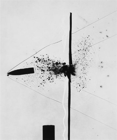 bullet through plexiglas by harold eugene edgerton