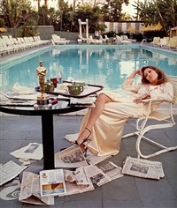 faye dunaway at the beverly hills hotel by terry o'neill