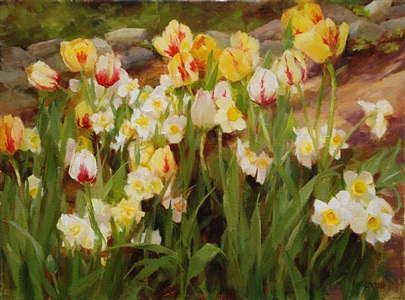 tulip garden (sold) by kathy anderson