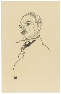 portrait of august lederer by egon schiele