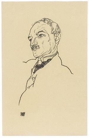 portrait of august lederer by egon schiele