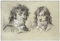 double portrait d'hommes by louis léopold boilly