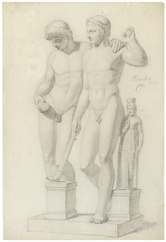 castor and pollux (san ildefonso group) by constantin (carl christian constantin) hansen