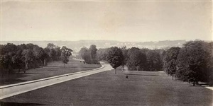 road in the bois de boulogne by charles marville