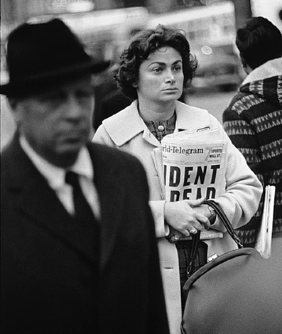 times square, new york city, november 22, 1963 by richard avedon
