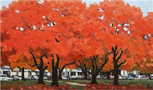 red leaves (virginia in autumn) by pham luan