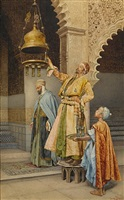 lighting the mosque lamps by giuseppe signorini