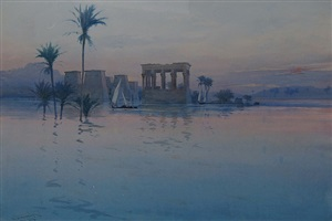 philae on the nile by augustus osborne lamplough