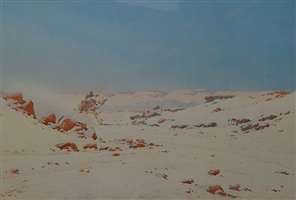 camel rider in the desert by augustus osborne lamplough