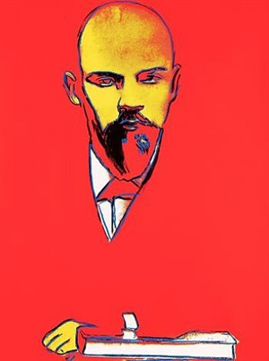lenin (red) by andy warhol