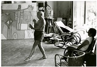 picasso dancing, playing horn by david douglas duncan