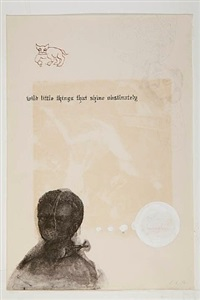 ghostly meditations (wild little things that shine obstinately) by enrique chagoya