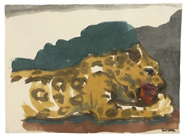 leopard by emil nolde