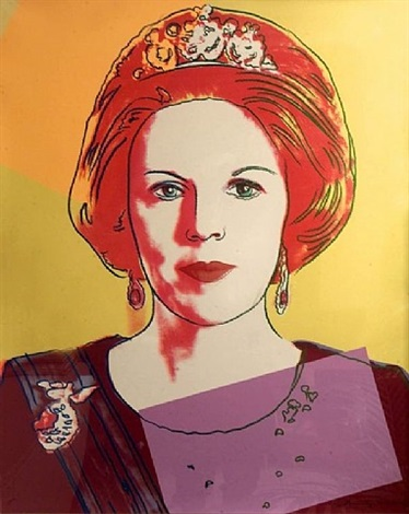 queen beatrix of the netherlands (ii.341) (from reigning queens) by andy warhol