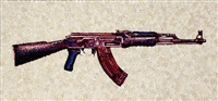 the gun in roses ak47 by lisa alonzo