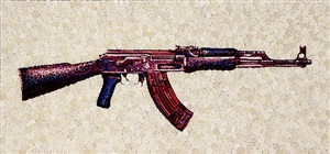 the gun in roses ak47 by lisa alonzo