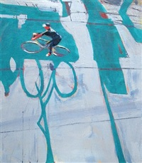 cyclist and sign by david kapp