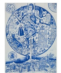 map of nowhere (blue) by grayson perry