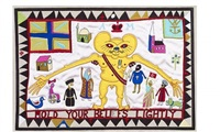 hold your beliefs lightly (tapestry) by grayson perry