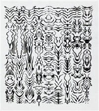 untitled inkblot drawing (1423) by bruce conner