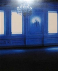 blue room white windows by patti oleon