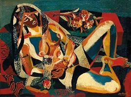 babylonia (liegender akt in schleiern) by josef scharl