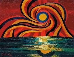 sonnenaufgang 1 (sunrise 1) by josef scharl