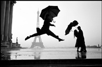 france. paris. 1989. eiffel tower 100th anniversary. by elliott erwitt