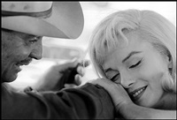 usa. nevada. us actors clark gable and marilyn monroe on the set of