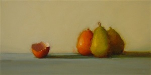 pears with eggshell by susan nally