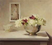 white carnations and whistler by grace mehan de vito