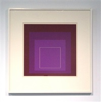 white line square, xi by josef albers
