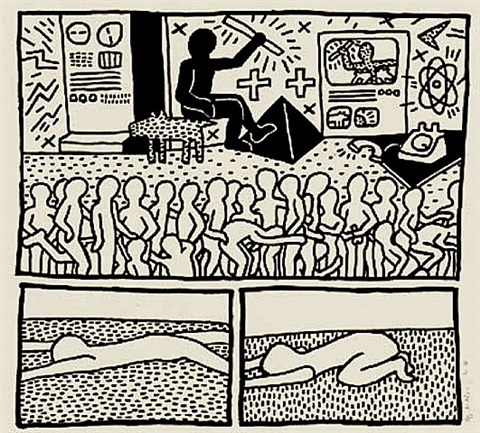 blueprint drawing # 15 by keith haring