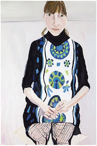 sally in fishnets by chantal joffe