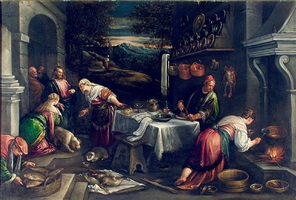 christ in the house of martha by francesco bassano