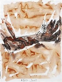 die hand - brennendes haus 3.ix.07. (remix) by georg baselitz