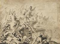 horatius coclès défendant les romains au pont sublicius by antoine rivalz