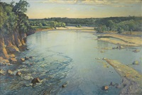 the shimmering spey by samuel john lamorna birch