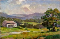 landscape with mountains by george cherepov