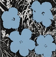 5 inch flowers painting by andy warhol