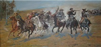 dash for the timber by frederic remington