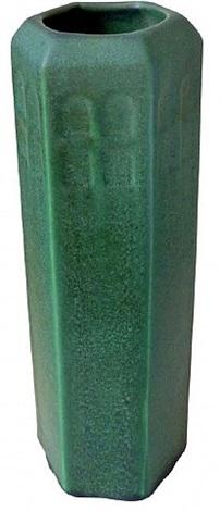 weller green matte glaze vase